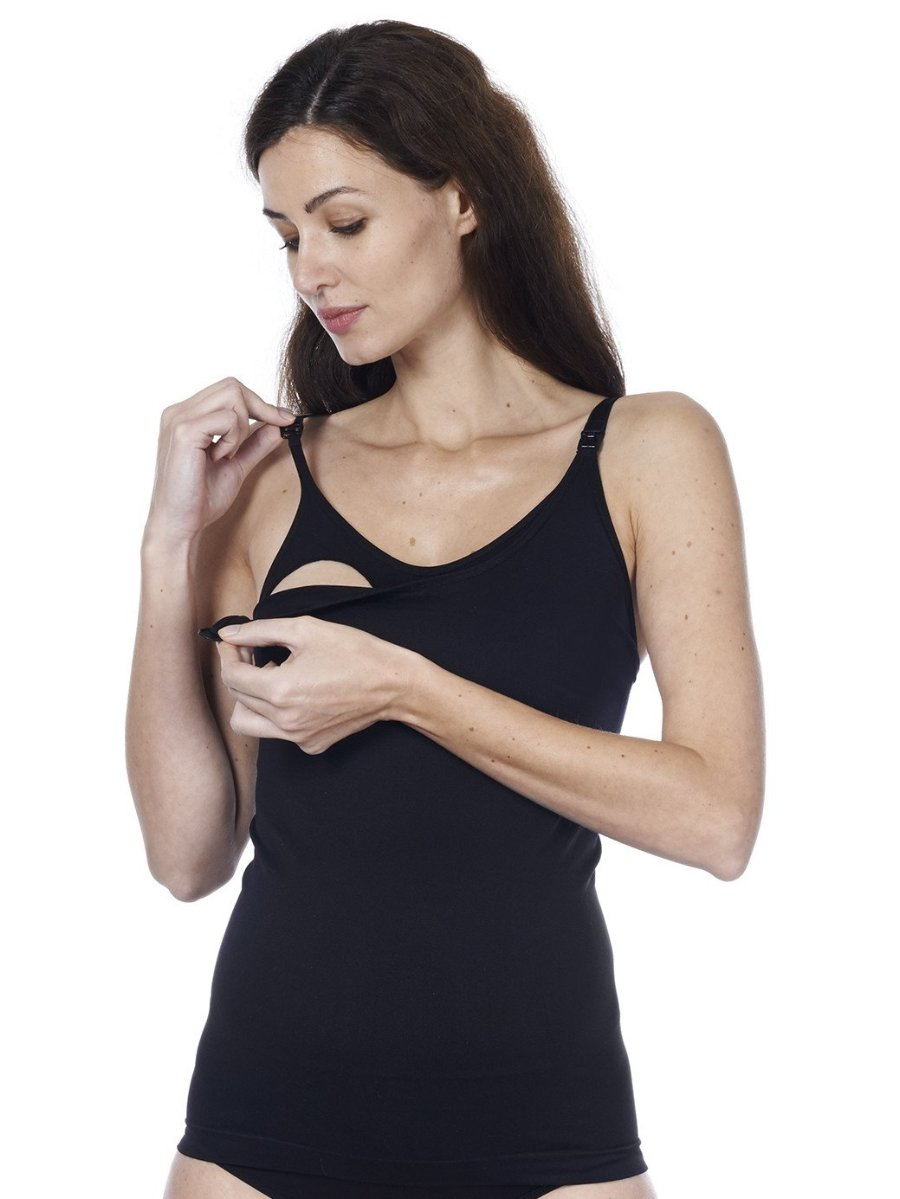 Seamless Nursing Tank with Discreet Nursing Access