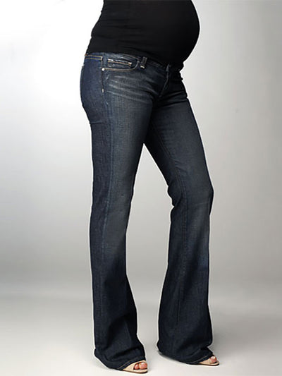 Paige 6-Pocket Underbelly Slim Bootcut Maternity Jeans