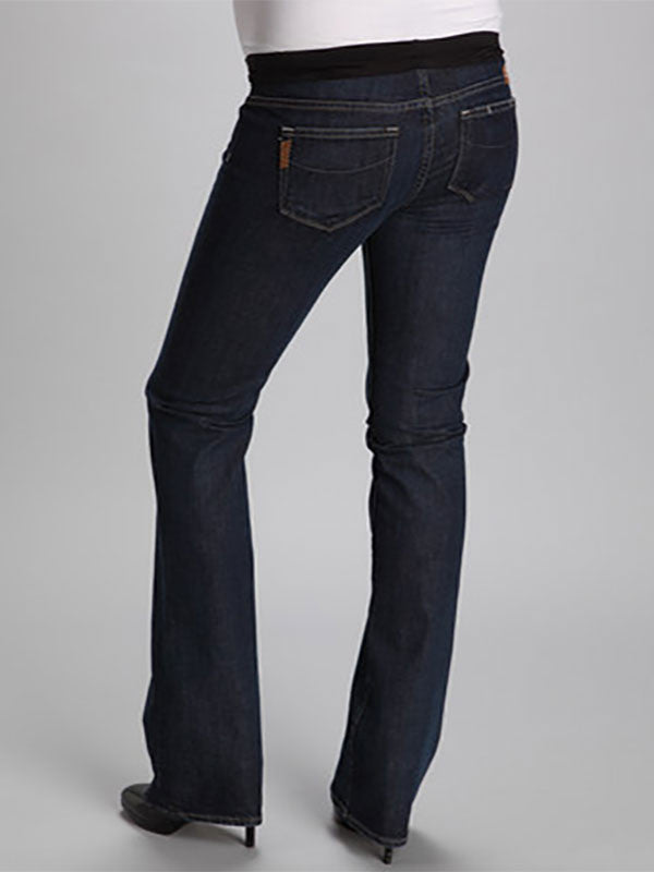 9a4195a6a95f3 Paige Slim Bootcut Six-Pocket Maternity Jeans with Mid-Belly Panel ...