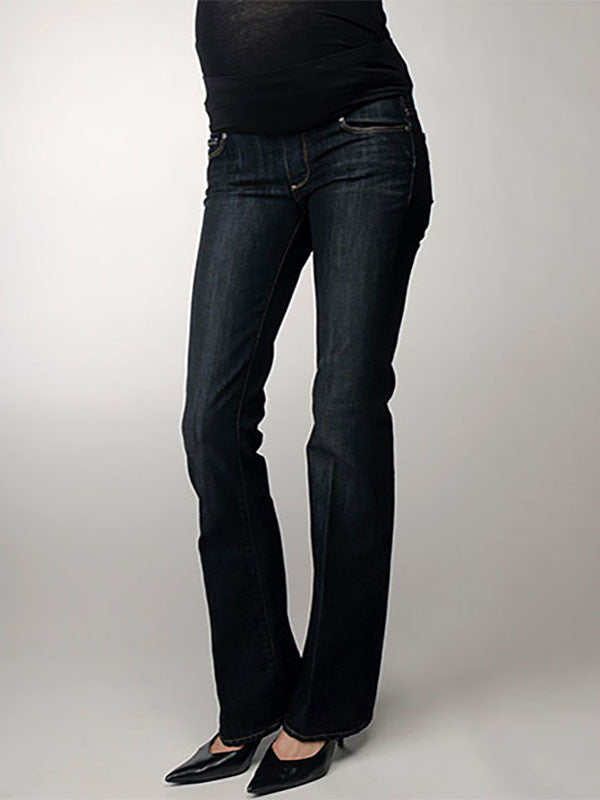 818ca4339ff8c Paige Bootcut Maternity Jeans with Contured Belly Panel to Accommodate your  Growing Belly