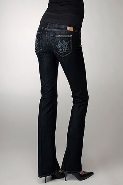 Paige Six-Pocket Bootcut Maternity Jeans