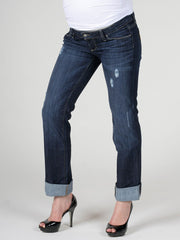 Paige Distressed Boyfriend Underbelly Maternity Jeans