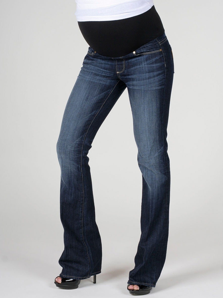 Paige Bootcut Maternity Jeans with Stretchy Belly Panel