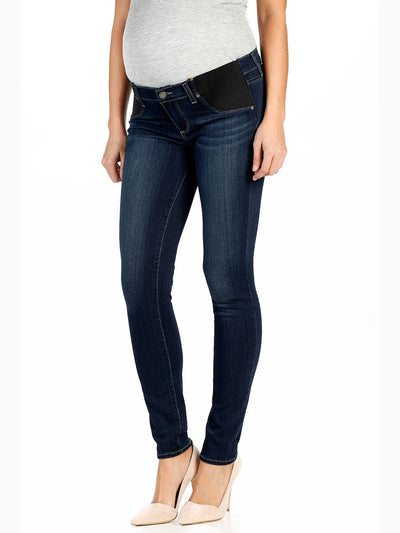 Paige Underbelly Skinny Maternity Jeans Nottingham Wash