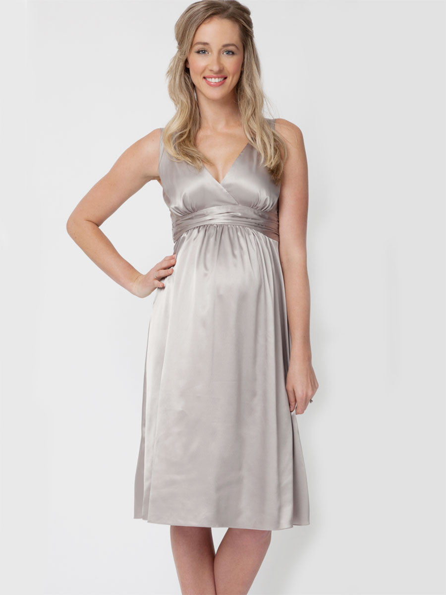 Ripe Maternity Cocktail Satin Dress