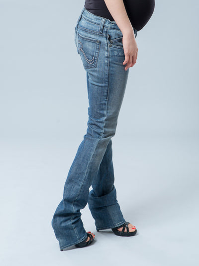 Underbelly Slim Straight Leg 5-Pocket Maternity Jeans