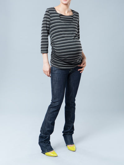 Rock & Republic Slim Straight Leg Underbelly Maternity Jeans