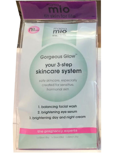 Mama Mio Gorgeous Glow 3-Step Skincare System - Front Packaging Details