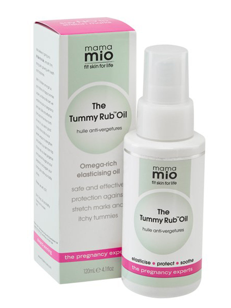 Mama Mio The Tummy Rub Oil - Carton and Glass Bottle