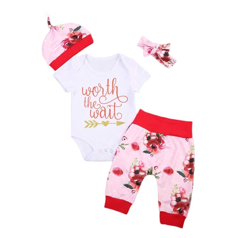 Worth the wait baby outfit