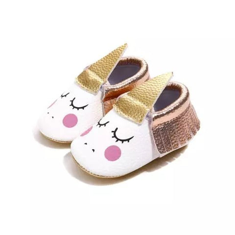 Unicorn PU leather baby shoes