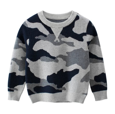 Camo boy sweater
