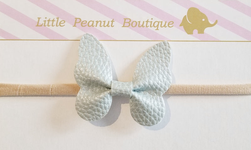 Metallic Butterfly Bow Headband