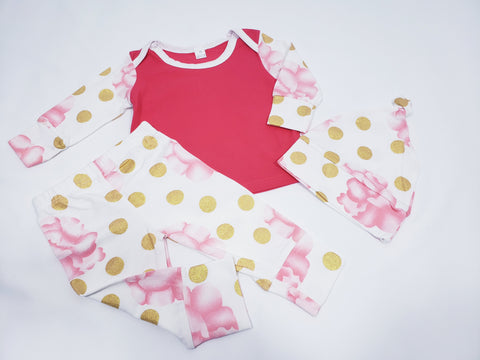 Polka dot baby outfit