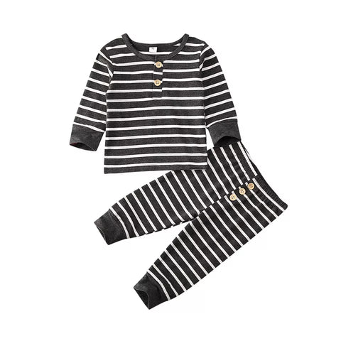 Cooper striped baby outfit