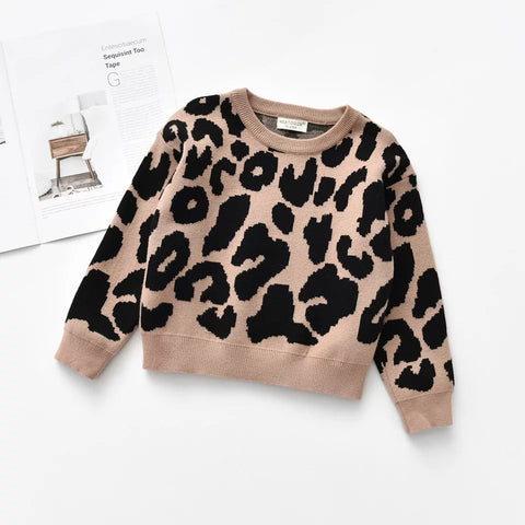 Knitted leopard  sweater