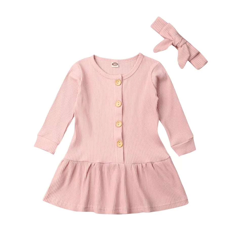 Basic ribbed baby dress