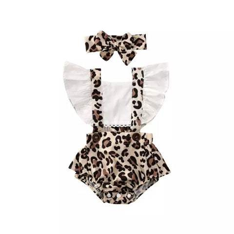 Leopard LOVE baby outfit