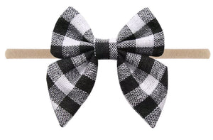 Plaid Butterfly Bow Headband