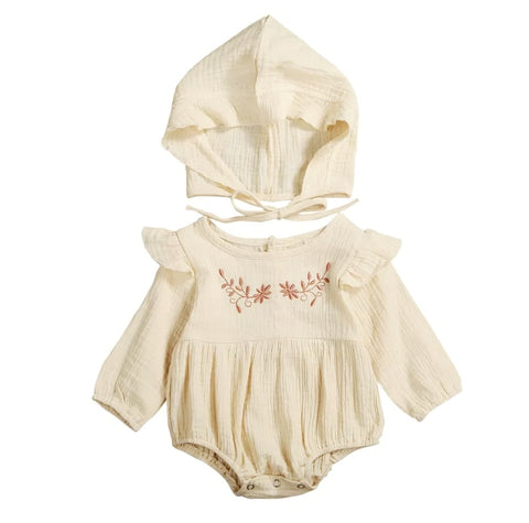 Tied up baby romper