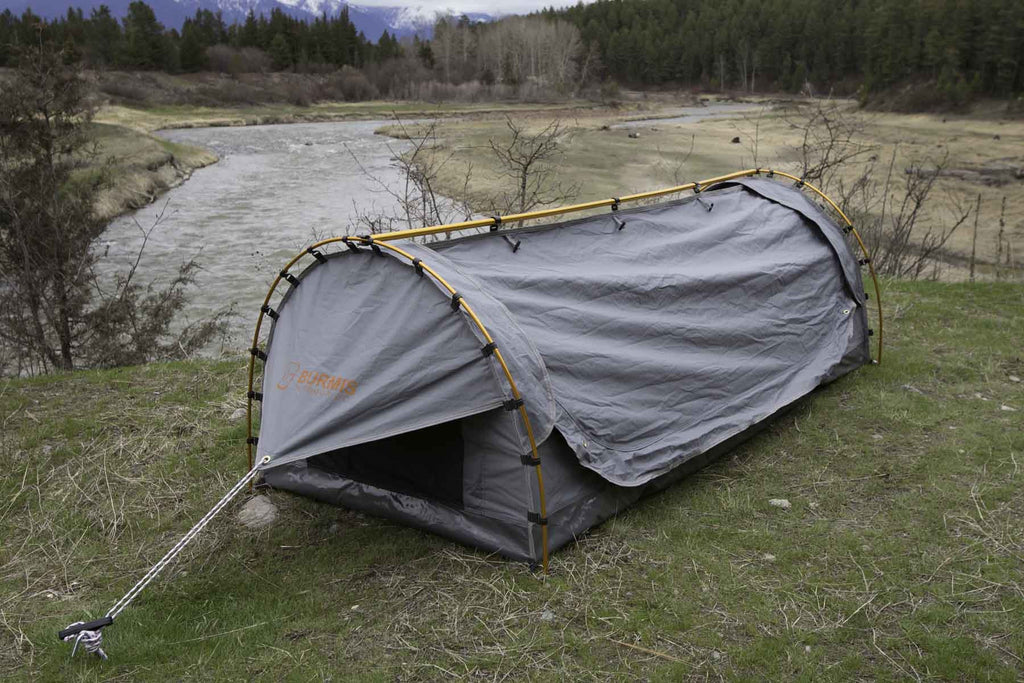 Burmis Canvas Swag Tent & Single Swag Tent Outback Swags - Wallow Swag - Burmis Outdoor