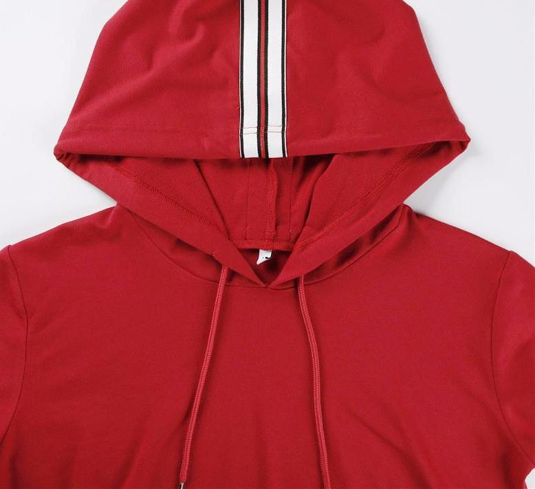 Red Hoodie and Sweatpants Set