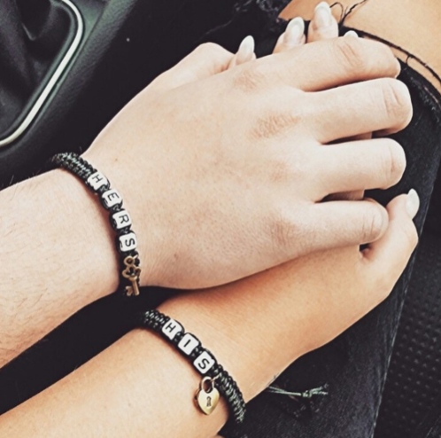 Key and Lock Couples Bracelets