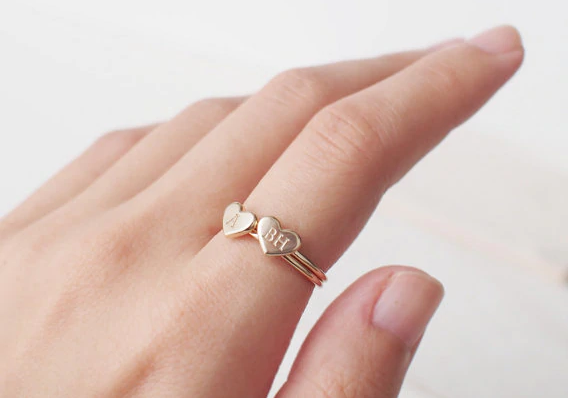 Customized Heart Ring