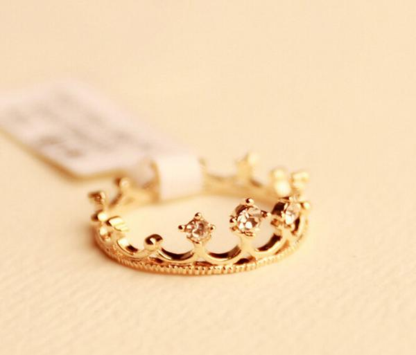 Gold Princess Crown Ring