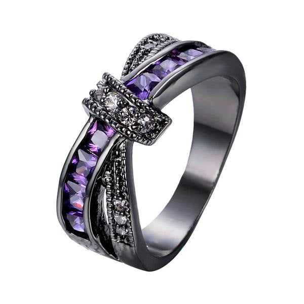 Amethyst Cross Ring
