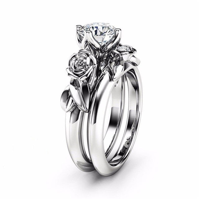 Dazzling Rose Flower Ring