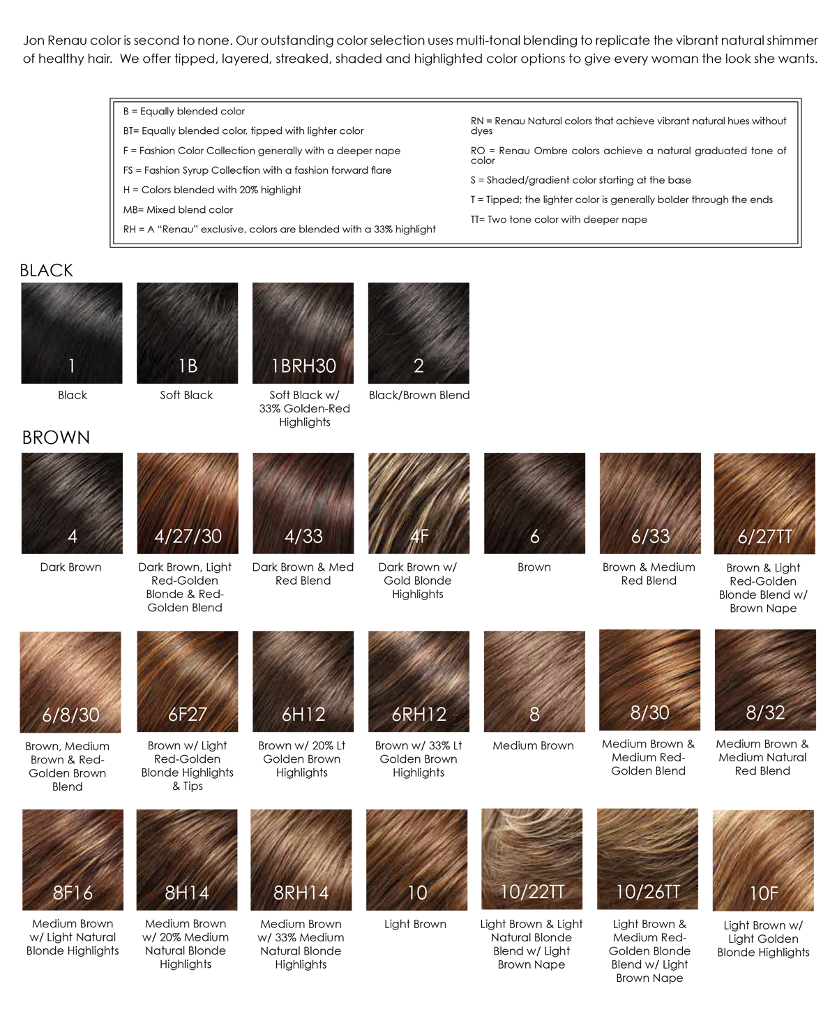 Jon renau wigs online colour chart geenschuldenfo Image collections
