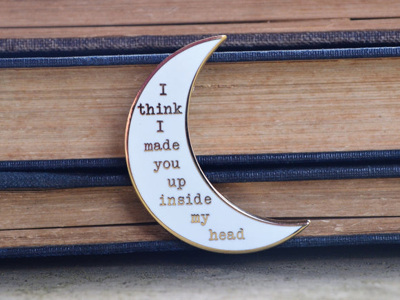 Sylvia Plath Pin - White and Gold