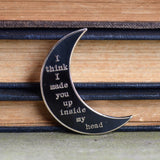 Sylvia Plath Pin - Black and Silver
