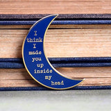 Sylvia Plath Pin - Blue and Gold