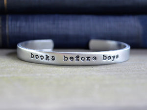 Books Before Boys Cuff Bracelet