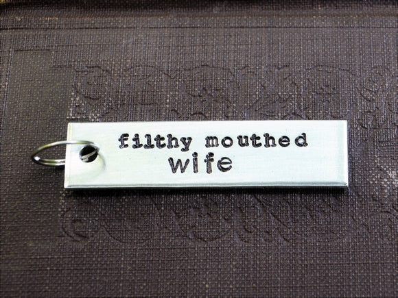 Filthy Mouthed Wife Keychain