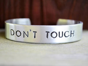 Don't Touch Cuff Bracelet