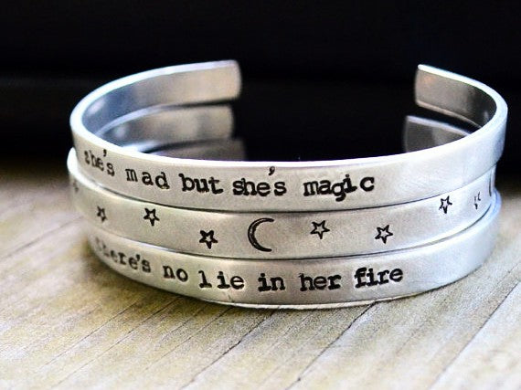 She's Mad But She's Magic Cuff Bracelet Set