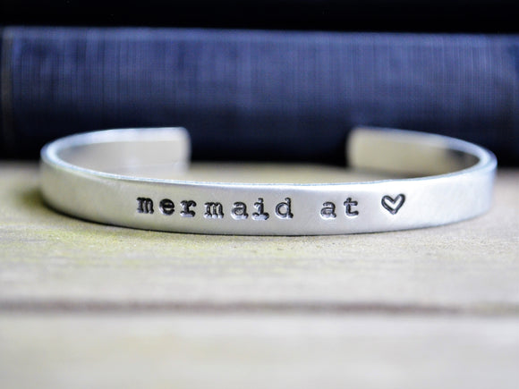 Mermaid at Heart Cuff Bracelet