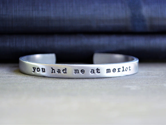 You Had Me At Merlot Cuff Bracelet