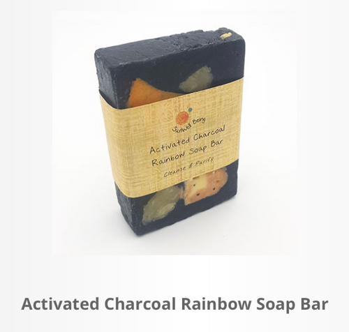 Activated Charcoal Rainbow Soap Bar