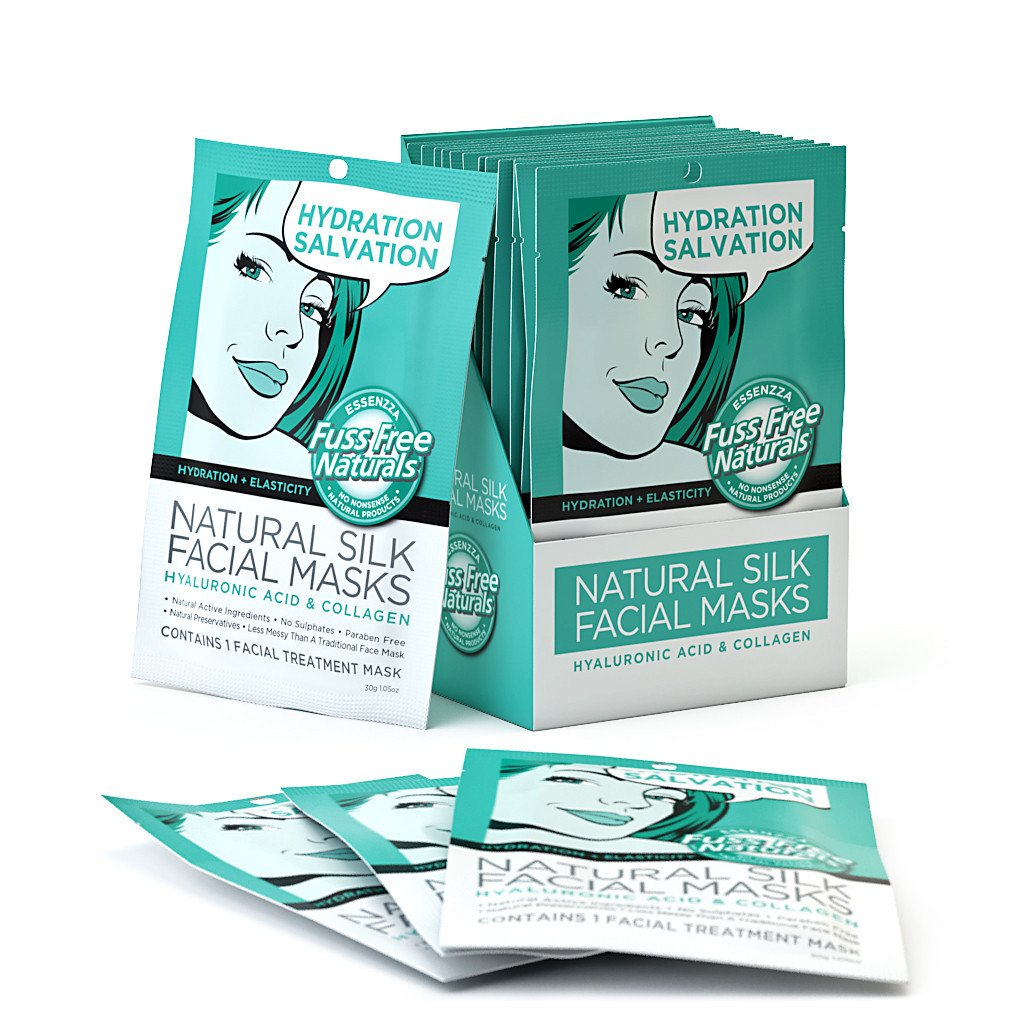 Hydration & Elasticity Face Mask Sheets - Hyaluronic Acid + Collagen - 6 Pack