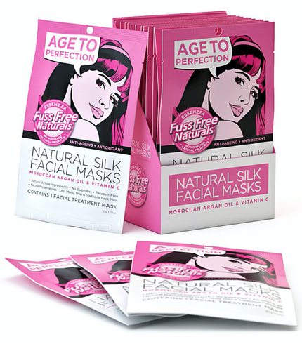 Anti-Aging + Antioxidant Face Mask Sheet - with Moroccan Argan Oil + Vitamin C - 6 Pack