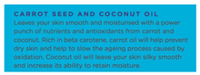 Moisturise + Smooth Face Mask Sheets - with Carrot seed and Coconut oil.