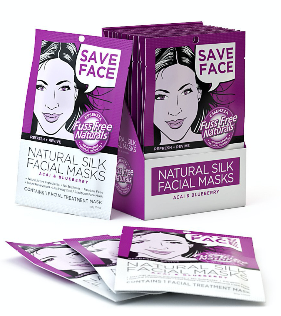 Refresh & Revive Facial Sheet Masks - with Acai + Blueberry - Single Mask