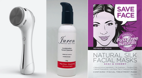 Juren 2 in 1 Cleansing & Rejuvenation System + Juren Cleanser & Silk Face Mask Combo