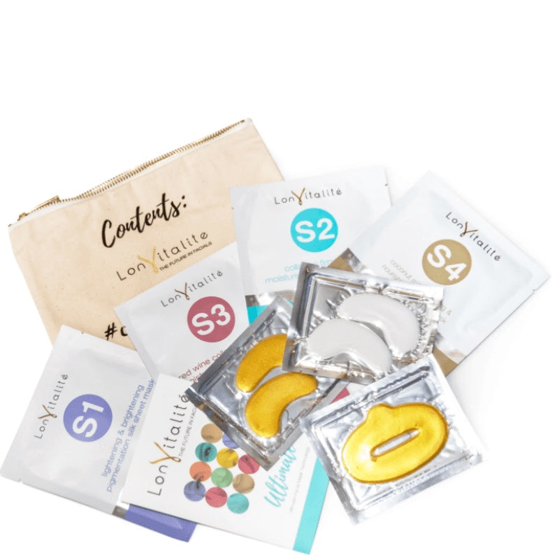LONVITALITE SELFIE PREP PACK - ULTIMATE PACK INCL COSMETIC BAG