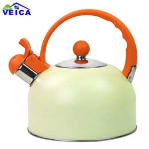 2017 Chaleira Hot Sale Stainless Steel 2.5l Water Kettle Induction Cooker Camping Kettles Furnace Stove Whistling Teapot Tools - and Hemp flowers UK