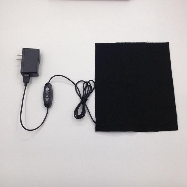 Electric Heating Vest Heated Pads with 5V 2A USB Charger DIY Electric Heating Clothing Accessory Carbon Fiber 25cm*20cm - and Hemp flowers UK